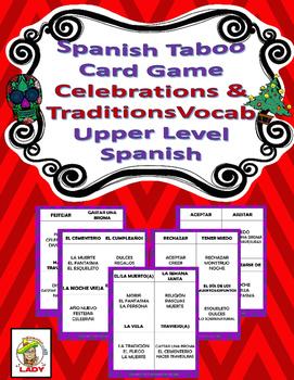 "Spanish ""No lo digas"" Vocabulary Game - Celebrations & Traditions"