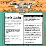 Spanish Talk Newsletter November Edition Cadalina's Creative Casa with Freebies