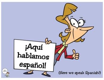 Spanish Target Language Posters (set 3)