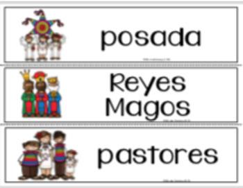 Navidad - Tarjetas de Vocabulario.