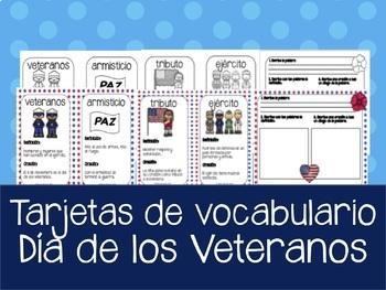 Dia de los Veteranos - Tarjetas de Vocabulario en Español
