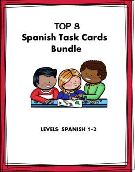 Spanish Task Cards Bundle: 10 Sets at 50% off!