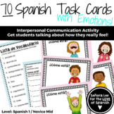 Spanish Task Cards - Spanish Emotions with Estar