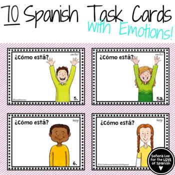 Spanish Task Cards - Spanish Emotions with Estar