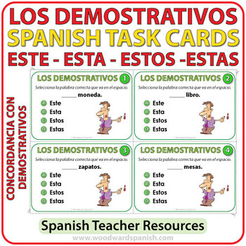 Spanish Task Cards - Este, Esta, Estos, Estas