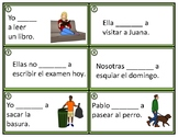 Spanish Ir + a + Infinitive Task Cards: Conversational Future Tense