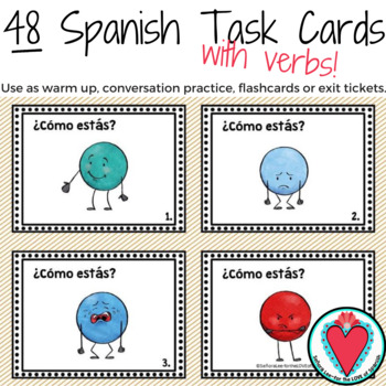 Spanish Verbs Activities - Spanish Task Cards