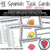 Spanish Task Cards - Present Tense Verbs, Present Progress