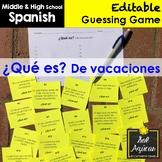 Spanish Task Cards - ¿Qué es? De vacaciones - Travel Vocabulary Game
