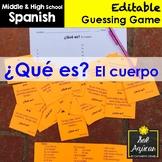 Spanish Task Cards - ¿Qué es? El cuerpo - Body Parts Vocab