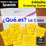 Spanish Task Cards - ¿Qué es? La Casa - House Vocabulary Game