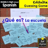 Spanish Task Cards - ¿Qué es? La Escuela - School Vocabulary Game