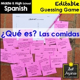 Spanish Task Cards - ¿Qué es? Las Comidas - Food Vocabulary Game