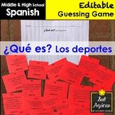 Spanish Task Cards - ¿Qué es? Los deportes - Sports Vocabu