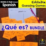 Spanish Task Cards - ¿Qué es? Vocabulary Game BUNDLE