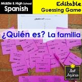 Spanish Task Cards - ¿Quién es? La familia - Family Vocabulary Game