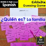 Spanish Task Cards - ¿Quién es? La familia - Family Vocabulary Game