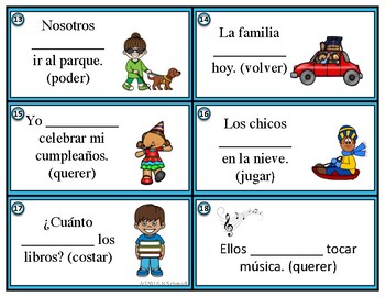 details for how to buy outlet on sale Spanish Stem-Changing Verbs Task Cards: Boot Verbs (Poder, Querer, Jugar  etc.)