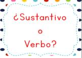 Spanish Task Cards Sustantivo o Verbo: Noun and Verb