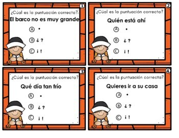 Spanish Task Cards: Thanksgiving