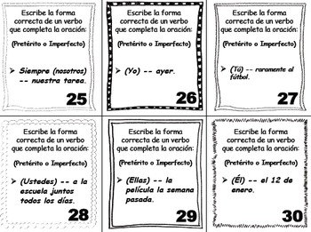 Spanish Task Cards: Verb Forms (16 Sets, 575 Cards)