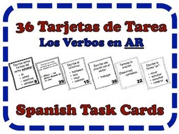 Spanish AR Verbs Task Cards