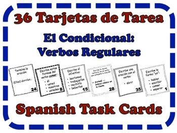 Spanish Conditional (Regular Verbs) Task Cards