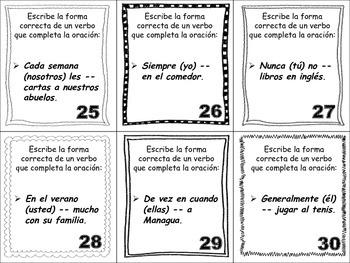 Spanish Imperfect (Regular & Irregular Verbs) Task Cards