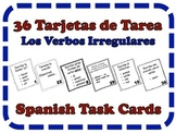 Spanish Irregular Verbs Task Cards