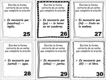 Spanish Subjunctive (Regular Verbs) Task Cards