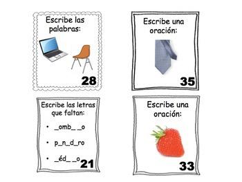 Spanish Task Cards: Vocabulary (11 Sets, 430 Cards)