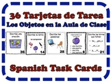 Spanish Classroom Objects Task Cards, Vocabulary