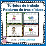 Spanish Task Cards: Writing Three-Syllable Words