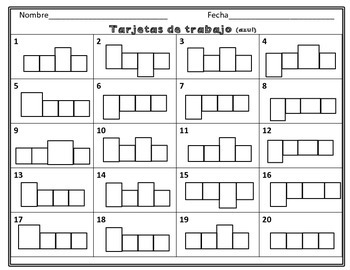 Spanish Task Cards: Writing Two-Syllable Words