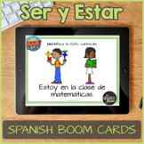Spanish Task Cards about Ser & Estar for Boom Learning - D