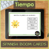Spanish Task Cards about weather & seasons for Boom Learning - Distance Learning