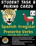 Spanish Task Cards for Irregular Preterite Verbs* Verbos d