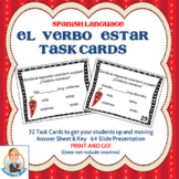 Spanish Task Cards for the Verb Estar