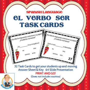 Spanish Task Cards for the Verb SER