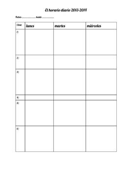 Spanish Teacher Planner