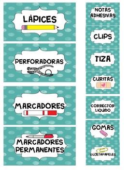 Spanish Teacher Toolbox labels