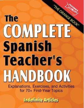 Spanish Teacher's Handbook: Indefinite Articles