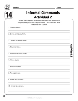 Spanish Teacher's Handbook: Informal Commands