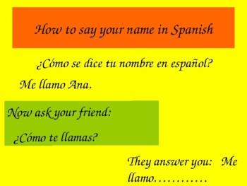 Spanish Teaching Resources 7 Powerpoints Language Basics  Spain