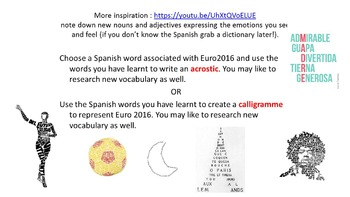 Spanish Teaching Resources. Euro 2016 Soccer / Football Lesson.