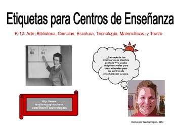 K-5 Literacy Center Package: 7 Learning Center Signs (Spanish)