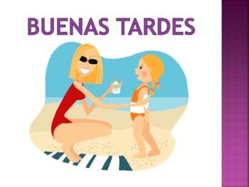 """Spanish Teaching """"buenos días, buenas tardes, buenas noches"""""""