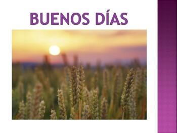 "Spanish Teaching ""buenos dias, buenas tardes, buenas noches"""