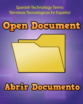 Spanish Techonology Term - Open Document