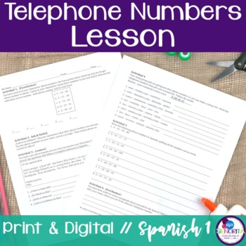 Spanish Telephone Numbers Lesson